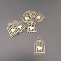 Kalitka medál, Dekorációs kellékek, Ékszerkészítés, Szíves kalitka medál  Ezüst színű, madárkalitka alakú medál.   Méret: 34 x 20 mm  Nyakláncok, fülbe..., Alkotók boltja