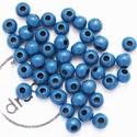 BGS 1054, Gyöngy, ékszerkellék, Kerámiagyöngy, kék, kerámiagyöngy, matt. Méret: 9 mm. Furat: 3.2 mm., Alkotók boltja
