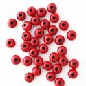 BBS 28 , Gyöngy, ékszerkellék, Kerámiagyöngy, Piros kerámiagyöngy. Méret: 16 mm. Furat: 5 mm., Alkotók boltja