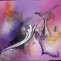 Akrillfestmény 50x70 cm, Dekorációs kellékek, Textil, Festett tárgyak, festészet, Ecsetek, Festékek, Egyedi, absztrakt akrillfestmény, 50x70 cm, feszített vászonra. , Alkotók boltja