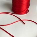 Szatén zsinór Piros 2mm-es, Fonal, cérna, Piros szaténzsinór 2mm vastagságban, alkalmas fonásra, bármilyen ékszer készítéséhez, nyakláncnak, k..., Alkotók boltja