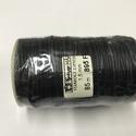 Fekete viaszolt zsinór, Csomagolóanyag, Zsinór, Mindenmás, A képen látható 1,5 mm vastag iaszolt zsinór 85 m. , Alkotók boltja