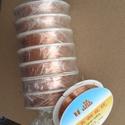 vörösréz drót 0,3, Gyöngy, ékszerkellék, Drót, Vörösréz drót 0,3 mm vastag Az ár 25 méterre vonatkozik (ez egy tekercs).  , Alkotók boltja