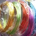 vastag alumínium drót 2mm, Gyöngy, ékszerkellék, Drót, alumínium drót 2 mm vastag Az ár 6 méterre vonatkozik (ez egy tekercs). 5 féle színben, színt..., Alkotók boltja