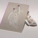 Esküvői vendégkönyv, könyv esküvőre, esküvői emlék, nászajándék, kézzel rajzolt borító, egyedi névvel, Naptár, képeslap, album, Esküvő, Nászajándék, Könyvkötés, Fotó, grafika, rajz, illusztráció, Esküvői vendégkönyv, könyv esküvőre, esküvői emlék vagy nászajándék, egyedi nevekkel rendelhető,  t..., Meska