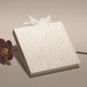 Kisméretű esküvői vendégkönyv, emlékkönyv esküvőre. Gyűrt selyem borító, szalaggal, Naptár, képeslap, album, Esküvő, Nászajándék, Könyvkötés, Papírművészet, Hagyományos fűzésű esküvői vendégkönyv, kisméretű emlékkönyv. Minden lapra elfér egy-egy meghívott ..., Meska