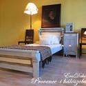 Provence-i   hálószobák, Otthon & lakás, Bútor, Ágy, Lakberendezés, Festett tárgyak, Provence-i hangulatok a hálószobában. Antikolt levendulakék festéssel készült tömör fenyő ágy. Rusz..., Meska