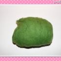 10 g Gyapjú világos zöld, Gyapjú nemezeléshez, különféle egyedi ékszer...
