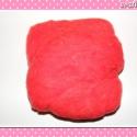10 g Gyapjú piros, Gyapjú nemezeléshez, különféle egyedi ékszer...