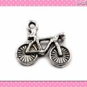 2 db Medál bicikli monti 14x25 mm ezüst színű, Medál, fityegő ékszerek, fülbevalók és nyakl...