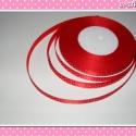 10 méter Szatén szalag 9 mm piros-fehér pöttyös, Piros-fehér pöttyös színű szatén szalag.  Az...