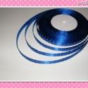 10 méter Szatén szalag 9 mm kék-fehér pöttyös, Kék-fehér pöttyös színű szatén szalag.  Az ...