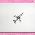 2 db Medál ezüst színű repülő, Medál, fityegő ékszerek, fülbevalók és nyakl...