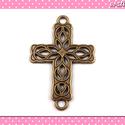 Medál Kereszt 27 x 42 mm bronz színű, Medál, fityegő ékszerek, fülbevalók és nyakl...