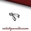 925 valódi ezüst MEDÁLAKASZTÓ; B105 - sterling ezüst medál akasztó, Gyöngy, ékszerkellék, Ékszerkészítés, Fémmegmunkálás, ötvösség, Szerelékek, 925-ös ezüst medálakasztó vagy sterling ezüst medál kapocs  A méretek értelmezéséhez kattints továb..., Alkotók boltja