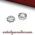 925 valódi ezüst GYÖNGYKUPAK; B252, Gyöngy, ékszerkellék, Ékszerkészítés, Fémmegmunkálás, ötvösség, Szerelékek, 925-ös ezüst gyöngykupak  A méretek értelmezéséhez kattints további termékfotóinkra: A=8,30 mm; B=0..., Alkotók boltja