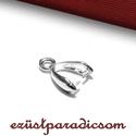 925 valódi ezüst MEDÁLAKASZTÓ; B110 - sterling ezüst medál akasztó, Gyöngy, ékszerkellék, Ékszerkészítés, Fémmegmunkálás, ötvösség, Szerelékek, 925-ös ezüst medálakasztó vagy sterling ezüst medál kapocs  A méretek értelmezéséhez kattints továb..., Alkotók boltja