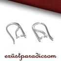 925 valódi ezüst FÜLBEVALÓ AKASZTÓ Swarovski; B265 - sterling ezüst fülbevaló kapocs, Gyöngy, ékszerkellék, 925-ös ezüst fülbevaló akasztó vagy sterling ezüst fülbevalóakasztó Ezt a terméket SWAROVSKI kristál..., Alkotók boltja