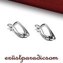 925 valódi ezüst FÜLBEVALÓ AKASZTÓ francia kapcsos; B266 - sterling ezüst francia akasztó, Gyöngy, ékszerkellék, Ékszerkészítés, Fémmegmunkálás, ötvösség, Szerelékek, 925-ös ezüst francia kapcsos fülbevaló akasztó vagy sterling ezüst fülbevaló kapocs  A méretek érte..., Alkotók boltja