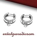 925 valódi ezüst FÜLBEVALÓ AKASZTÓ francia kapcsos; B268 - sterling ezüst francia akasztó, Gyöngy, ékszerkellék, Ékszerkészítés, Fémmegmunkálás, ötvösség, Szerelékek, 925-ös ezüst francia kapcsos fülbevaló akasztó vagy sterling ezüst fülbevaló kapocs  A méretek érte..., Alkotók boltja