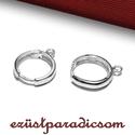 925 valódi ezüst FÜLBEVALÓ AKASZTÓ francia kapcsos; B267 - sterling ezüst francia akasztó, Gyöngy, ékszerkellék, 925-ös ezüst francia kapcsos fülbevaló akasztó vagy sterling ezüst fülbevaló kapocs  A mére..., Alkotók boltja
