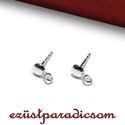 925 valódi ezüst FÜLBEVALÓ ALAP; B287 - sterling ezüst fülbevalóalap, Gyöngy, ékszerkellék, Ékszerkészítés, Fémmegmunkálás, ötvösség, Szerelékek, 925-ös ezüst fülbevaló alap vagy sterling ezüst bedugós fülbevaló  A méretek értelmezéséhez kattint..., Alkotók boltja