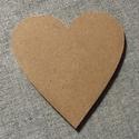 festhető szív 7 cm, Dekorációs kellékek, Díszíthető tárgyak, Festett tárgyak, festészet, Mindenmás, Festőfelület, 3 mm vastag HDF lapból cnc technikával kivágott forma.Mérete:7,5*7 cm  Hűtőmágnesnek, vagy egy pálc..., Alkotók boltja