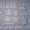 Többféle dekoratív alak, Papír, Egyéb papír, Papírművészet, Többféle ábra dekorációs célra! mérete átlagosan 10x10cm.  Anyaga 1mm vastag sörkarton.   Minimális..., Alkotók boltja