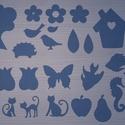 Többféle dekoratív alak, Papír, Egyéb papír, Többféle ábra dekorációs célra! mérete átlagosan 10x10cm.  Anyaga textil. Többféle lehető..., Alkotók boltja