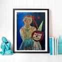 65f77363f7a4 Cirkusz AKCIOS !, Otthon, lakberendezés, Képzőművészet, Napi festmény, kép,  Falikép