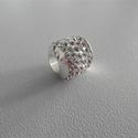 ÁRZUHANÁS! A+ minőségű shamballa kristályköves nagy lyukú 10mm-es gyöngy, Gyöngy, ékszerkellék, Igazgyöngy, Ékszerkészítés, Gyöngy, A+ minőségű shamballa 5 soros kristályköves nagy lyukú 10mm-es,  gyöngy eladó.  Színek: 1. ezüst 2...., Alkotók boltja