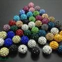 A+ minőségű shamballa kristályköves teljesen fúrt 10mm-es golyó eladó., , Ékszerkészítés, Gyöngy, Ékszerkészítésből megmaradt sok-sok alapanyagot szeretném kiárulni.  Sajnos nincs időm már foglalko..., Alkotók boltja
