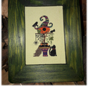 Keresztszemes minta Halloween / Cross stitch pattern Halloween, DIY (leírások), Szabásminta, útmutató, Hímzés, Mindenmás, Egyedi tervezésű keresztszemes minta.  Anyag: Zweigart pamut hímzővászon 25ct. A minta mérete: 70x1..., Alkotók boltja