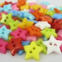 CSILLAG alakú gombok -100 db, Gomb, Műanyag gomb, Vidám színes csillag alakú, műanyag gombok. Gyönyörű színekben.  Méret: 12,5x12,5 cm  Az ár 100 db g..., Alkotók boltja