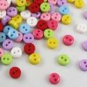 Mini, apró 6mm-es gombok 50 db, Gomb, Műanyag gomb, Élénk színű mini gombok a 2. képen látható színekben.  Métere: 6 mm  A csomag ára 50 db gombra vonat..., Alkotók boltja