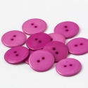 Nagy PINK színes műanyag gombok 23mm - 20 db, Gomb, Műanyag gomb, Varrás, Gomb, Szép, nagy műanyag 2 lyukú gombok a képen látható élénk PINK színben.  Métere: 23mm  A csomag ára 2..., Alkotók boltja
