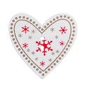 Szép, karácsonyi szív alakú gombok - 10 db, Gomb, Dekorációs kellékek, Varrás, Famegmunkálás, Gomb, Gyönyörű, szépen kidolgozott, festett fa szív alakú gombok.  Mérete: 33x35 mm  Anyaga: festett fa A..., Alkotók boltja