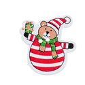 Karácsonyi maci, mackó gombok - 10 db, Gomb, Dekorációs kellékek, Ajándékot tarótó, szépen kidolgozott karácsonyi maci gombok.  Mérete: 31x29 mm  Anyaga: festett fa A..., Alkotók boltja