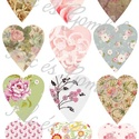 Mintás filc anyag - Szív formájú virág mintás sablonokkal, Textil, Filc, Filc anyag szív formájú virág mintás sablonokkal.  Mérete: 30x20 cm Vastagsága: 1mm  Kiváló minőségű..., Alkotók boltja