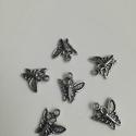 Pillangó, Gyöngy, ékszerkellék, Egyéb alkatrész, 1,5cm hosszú 1,0cm széles, Alkotók boltja