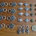Fém kapocs csomag (27 db), Dekorációs kellékek, Varrás, Míves, igényes fém kapcsok, összesen 27 db., Alkotók boltja