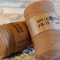Welcome Yarn szalagfonal mogyoró, Fonal, cérna, Pamutfonal, Kötés, horgolás, A szalagfonal egy könnyű, 100%-ban újrahasznosított textilből készült fonal, amely 80%-ban pamut, 2..., Alkotók boltja