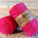 Welcome Yarn szalagfonal fukszia, Fonal, cérna, Pamutfonal, Kötés, horgolás, A szalagfonal egy könnyű, 100%-ban újrahasznosított textilből készült fonal, amely 80%-ban pamut, 2..., Alkotók boltja