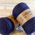 Welcome Yarn szalagfonal sötétkék, Fonal, cérna, Pamutfonal, Kötés, horgolás, A szalagfonal egy könnyű, 100%-ban újrahasznosított textilből készült fonal, amely 80%-ban pamut, 2..., Alkotók boltja