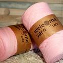 Welcome Yarn szalagfonal pink, Fonal, cérna, Pamutfonal, Kötés, horgolás, A szalagfonal egy könnyű, 100%-ban újrahasznosított textilből készült fonal, amely 80%-ban pamut, 2..., Alkotók boltja