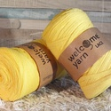 Welcome Yarn szalagfonal napsárga, Fonal, cérna, Pamutfonal, Kötés, horgolás, A szalagfonal egy könnyű, 100%-ban újrahasznosított textilből készült fonal, amely 80%-ban pamut, 2..., Alkotók boltja