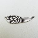 Angyal szárnyak - 10db - 30 mm, Gyöngy, ékszerkellék, Egyéb alkatrész, Fémmegmunkálás, ötvösség, Cink ötvözet angyal szárnyak antikolt ezüst színben. A minta kétoldalú :) Az ár 10, azaz 10 darabra..., Alkotók boltja