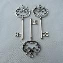 Nagy kulcsok - 68mm - 3db, Gyöngy, ékszerkellék, Egyéb alkatrész, Alkotók boltja