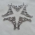 Háromszög csipke köztesek - 5db - ( konkáv deltoid ), Gyöngy, ékszerkellék, Egyéb alkatrész, Alkotók boltja