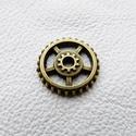Fogaskerekek - 10db - 18mm, Gyöngy, ékszerkellék, Egyéb alkatrész, Fémmegmunkálás, ötvösség, Bőrművesség, Cink ötvözet fogaskerekek bronz színben. Az ár 10, azaz tíz darab fogaskerékre vonatkozik!  Mérete ..., Alkotók boltja